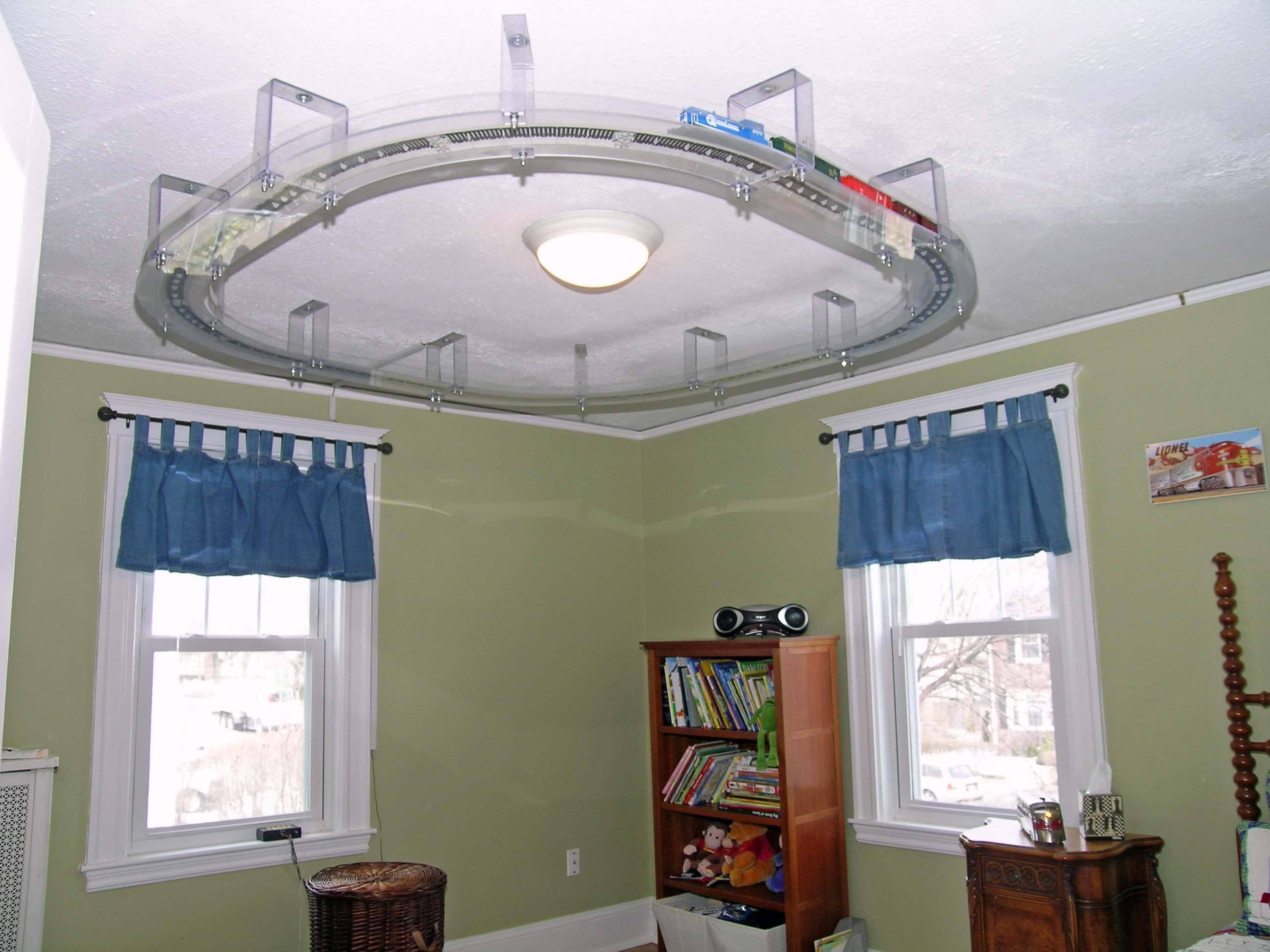 Train Set Mounted On The Ceiling Google Image Result For
